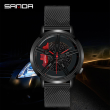 New Unique Racing Car Watch Men Custom Car Wheel design Wrist