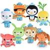 8Pcs/set Octonauts Plush Toys 19cm and 30cm Barnacles Peso Kwazii Tweak Vegimal Animal Stuffed Party Birthday Gift