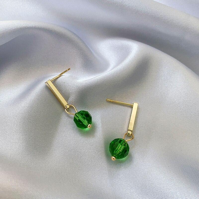 Корейские серьги-гвоздики 202020, высококачественные серьги, новинка, модные элегантные маленькие универсальные серьги из чистого серебра с К...