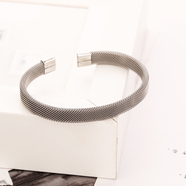 New Fashion Mesh Bangle Bracelets for Women Charms Bracelet Engagement Gifts NLKX-JZR