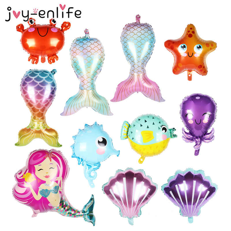 Mermaid Tail Balloon Sea Animal Party Globos Baby Shower Girl Under The Sea Kids Birthday Party Decoration Helium Air Balloons