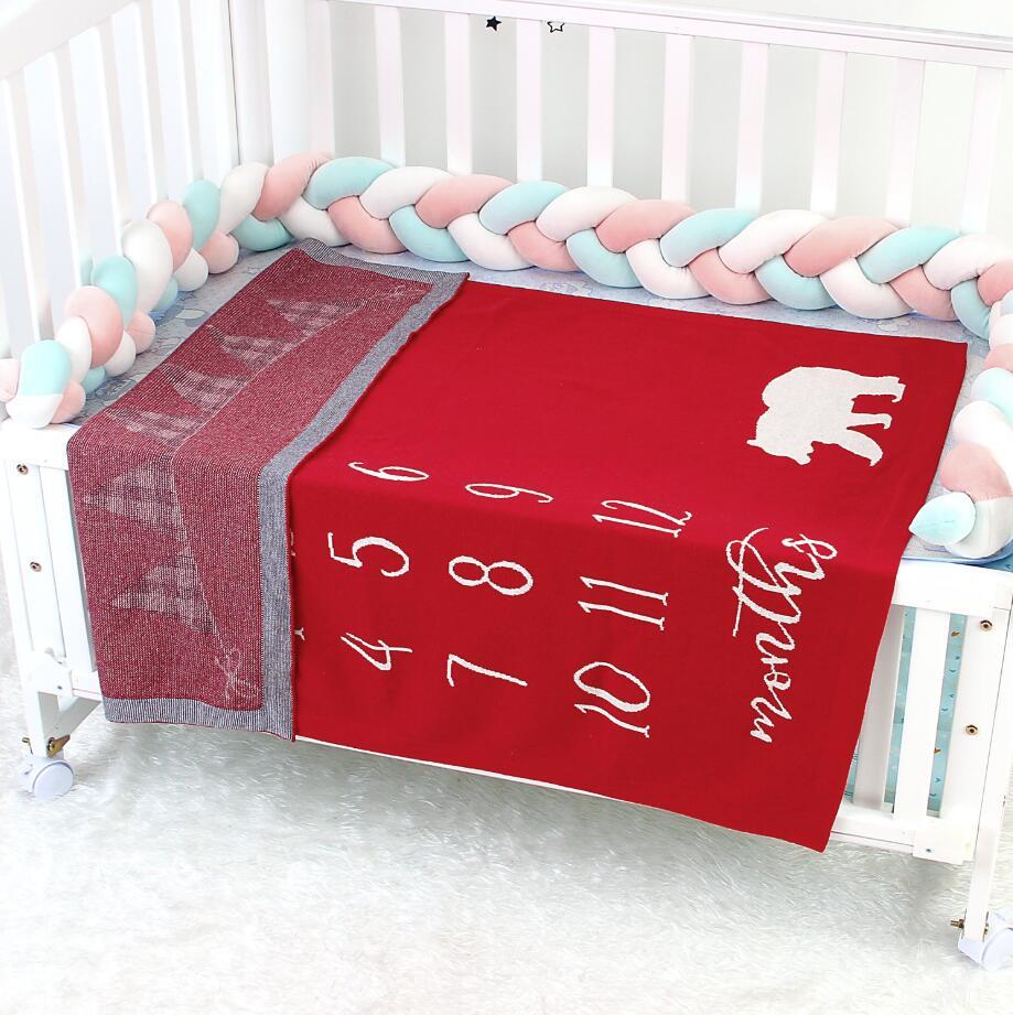 Newborn Month Blanket Baby Photography Props Mat Deer Props Newborn Photography Accessories Crochet Baby Blanket Bebes Bedding