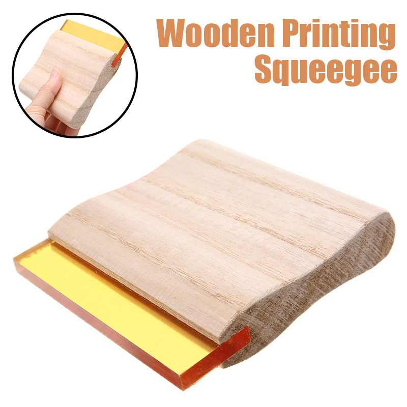 10/20/30cm Wood Handle Silk Screen Printing Squeegee Blade Wear Proof Silk Craft Silkscreen Printing Ink Rubber Scraper Board