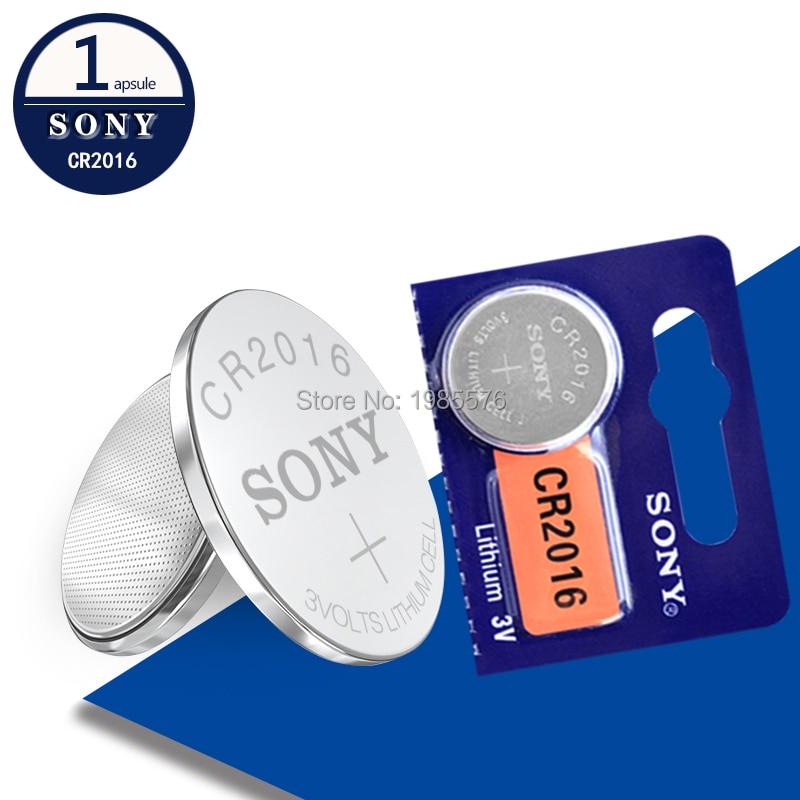 1PC עבור SONY cr2016 ליתיום סוללה 3V ליתיום כפתור סוללה תא מטבע שעון סוללות cr 2016 DL2016 ECR2016 BR2016 עבור שעון
