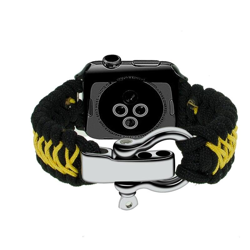 Umbrella Rope Nylon Strap For Apple Watch Bands 44mm Safety Strap 40mm Iwatch Series 5 4 3 2 1 Bracelet 38mm 40mm Watchband Belt