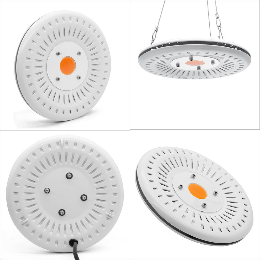 Купить с кэшбэком DishyKooker  Full Spectrum UFO Shape Waterproof COB Plant Growing Lamp 50W