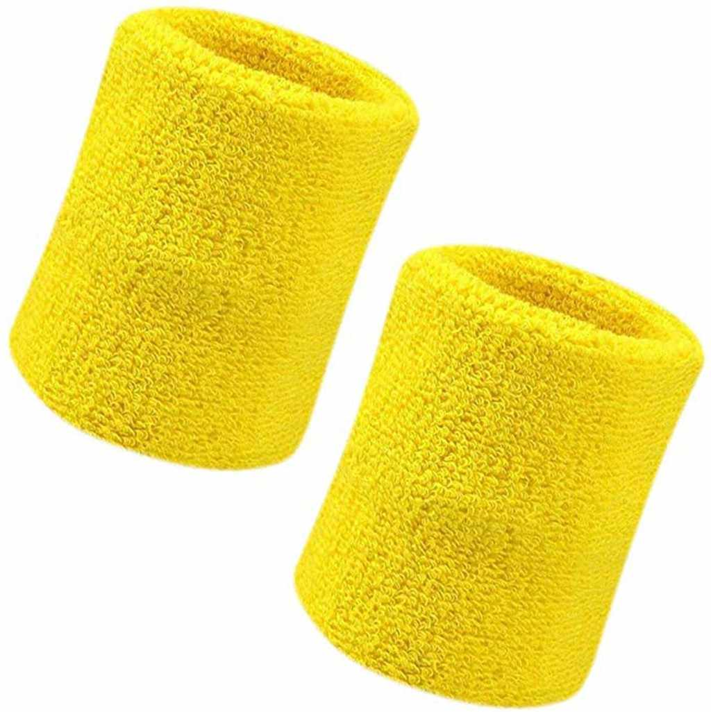 2Pcs Unisex Basketball Sports Cotton Sweat Band Sweatband Wristband Wrist Band sarung tangan winter Soft Breathable Good Quality