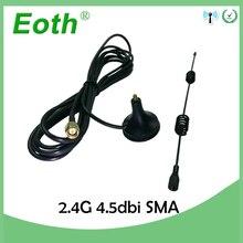 2.4Ghz anten Wifi 4.5dbi SMA erkek konnektör manyetik bankası 2.4G antena wi fi antenne 3m uzatma kablosu için wifi yönlendirici