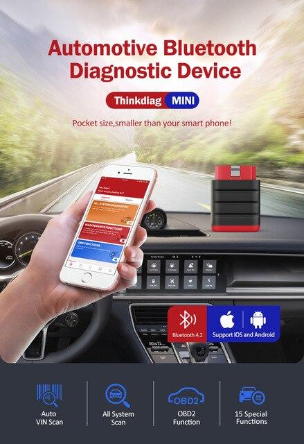 Thinkcar Bluetooth Scanner Auto Diagnosis Tools for Car Scanner Professional OBD2 OBD ODB Thinkdiag Mini PK AP200 Thinkdiag
