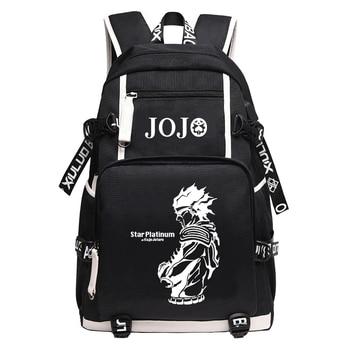JoJo's Bizarre Adventure Large School Backpack Anime KILLER QUEEN DIO Bookbag Oxford Travel Bagpack Cartoon USB Laptop Mochilas
