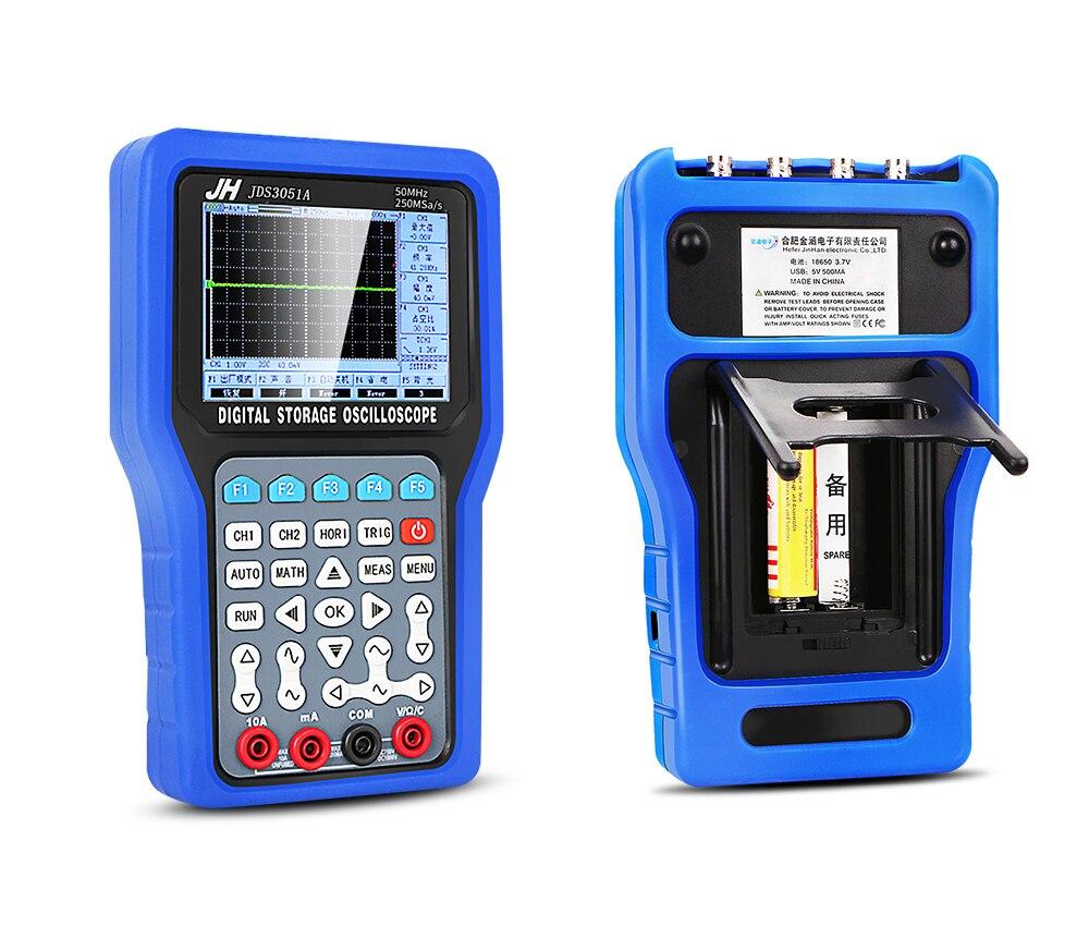 Jinhan Handheld Digital Storage Oscilloscope JDS3051A JDS3072E JDS3082A Digital Storage Portable Oscilloscope Multimeter
