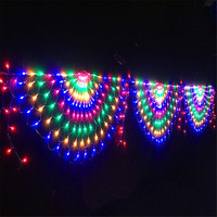 EU/US Plug 3M 3 Peacock Mesh Net Led String Lights Outdoor Fairy Garland for Wedding Christmas Wedding New Year Party Decoration