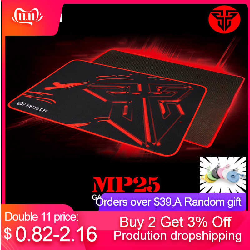 Non Skid Base 250X210X2 Mm Mouse Pad Hitam Fantech MP25 Pro Gaming Mouse Mat Pad gamer Anti-Slip Kain Pro Gaming