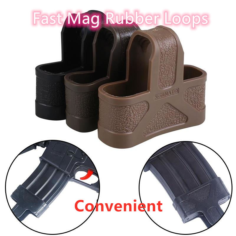 .223 5.56 NATO Cage Fast Mag Rubber Loops for AR15 Gun Magazine Assist