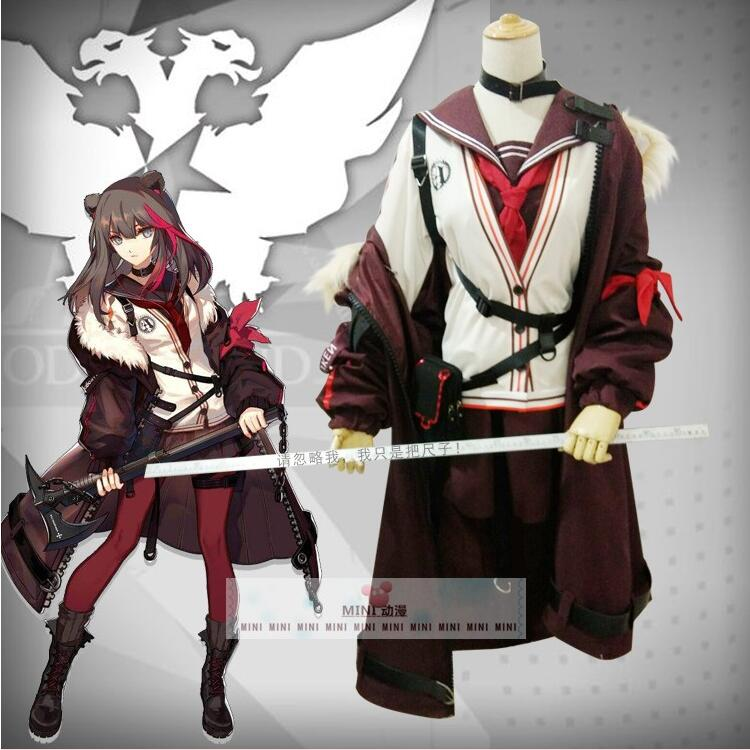 Anime Game Arknights Cosplay Winter Zima Costume Wigs Weapons Cosplay Props Halloween Costumes for Women Party Adult Fancy Dress