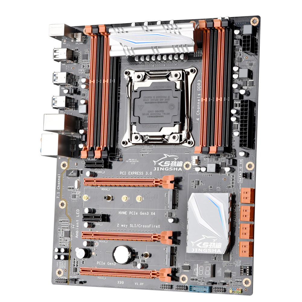 X99 chipset Intel motherboard with LGA 2011-3 socket supports Intel <font><b>xeon</b></font> E5-2678/2669/2649/2629/<font><b>2696</b></font> <font><b>v3</b></font> image