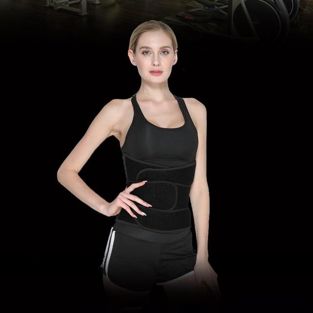 Sports Waist Trimmer Belt Slim Weight Loss Sweat Band Shapewear Adjustable Lumbar Brace Gym Accessories Weightlifting Training F 3