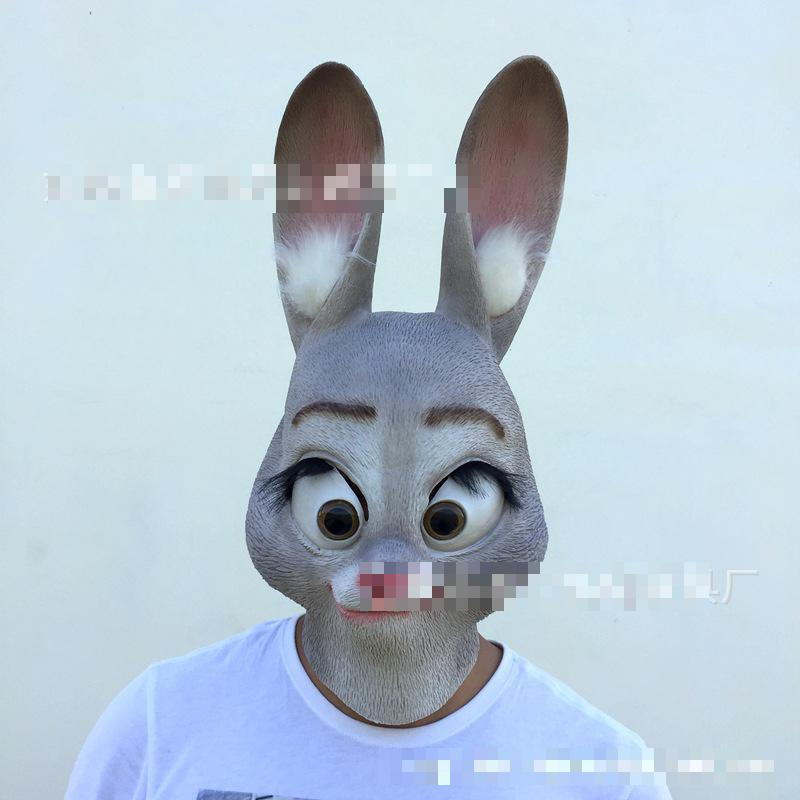Mad Animal City, The Same Cartoon Judy Rabbit Slow Nick Mask With Cos Ball Latex Toy Unisex Horror