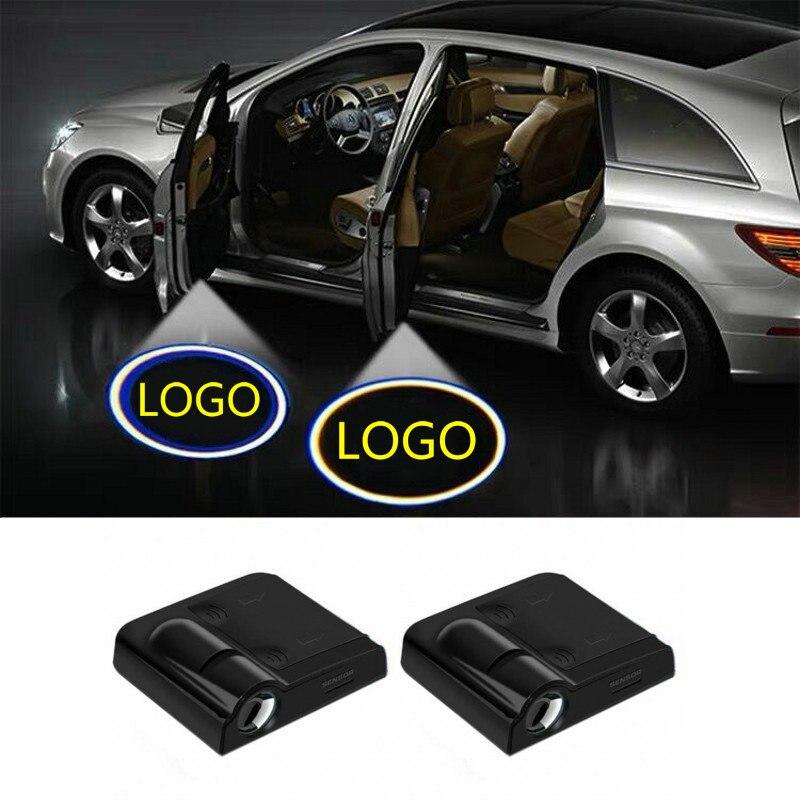 2X LED Car Door Welcome Light Projector Logo For Ford Focus ST Sedan Puma Kuga Explorer Escape Territory Ka Plus Fusion Edge ST