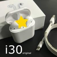 i30 TWS 1:1 Replica Pop up Wireless Earphone 6D Super Bass Bluetooth 5.0 Earphones i30 tws PK i20 i60 not W1 Chip twsi30