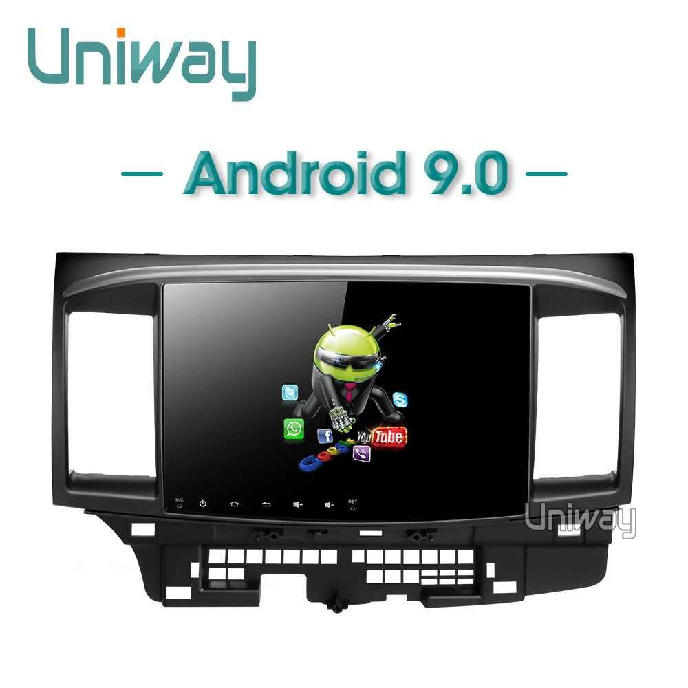 Uniway PX30 DSP Android 9.0 Mobil DVD untuk Mitsubishi Lancer 10.1 Inci 2008 2009 2010 2011 2012 2013 2014 2015 mobil Stereo Navigator