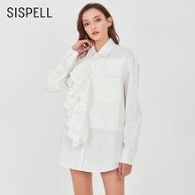 Женская блузка с рюшами sispell Повседневная Свободная рубашка