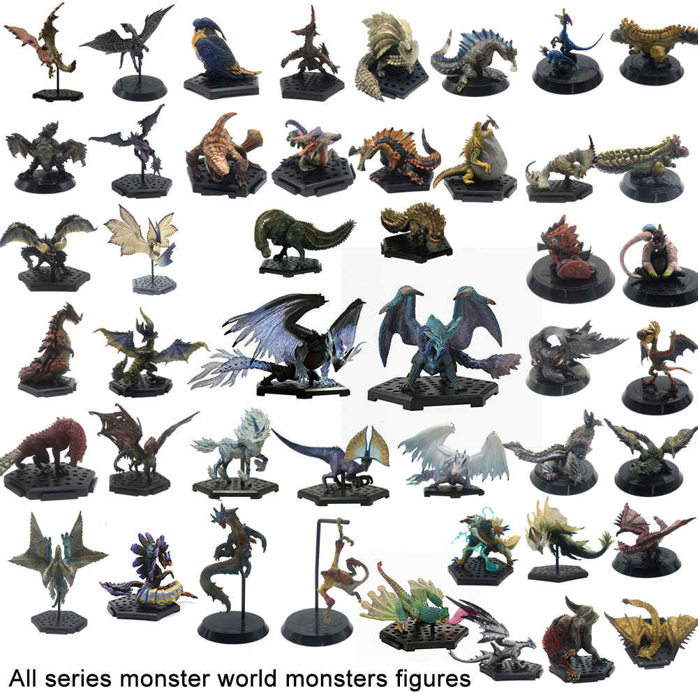 All Series Monster Hunter World Generations Ultimate Game 3 4 <font><b>XX</b></font> PVC Monsters Models Action Figure Collections <font><b>Toy</b></font> MHW MHGU MH4U image