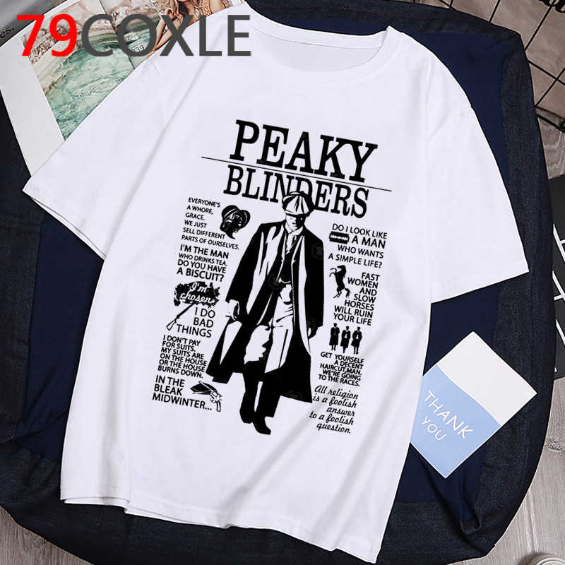 Unisex Peaky Blinders Anime T Shirt Men Streetwear Hip Hop T-shirt Funny Cartoon Men Summer Graphic Tshirt Cool Top Tees Male