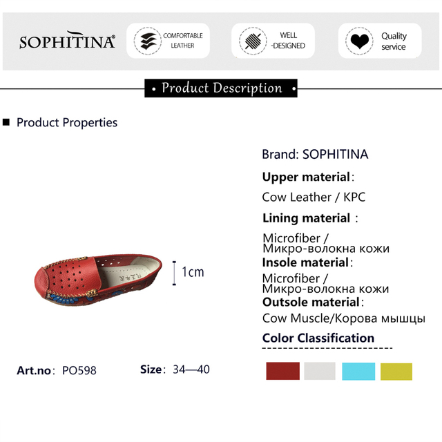 SOPHITINA Women s Flats New Breathable Hollow Comfortable Walking Driving Female Ladies Boat Shoes PO