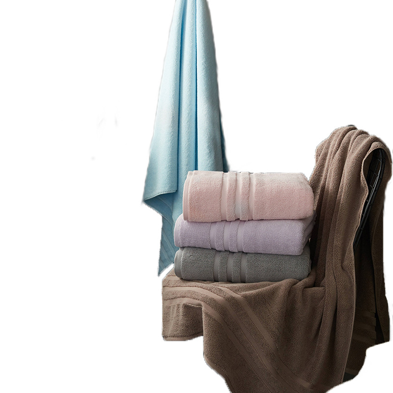 Big size bath towel solid 90*180cm beach towel beige thicken shower towels for bathroom hotel home sofa knee blanket textile