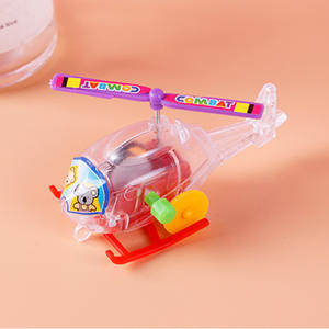 Clockwork Toy Helicopter Airplane Wind-Up Mini Crawling-Toy Pull-Back Transparent Infant