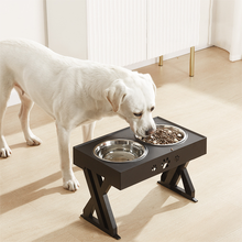 Dog Double Bowls Adjustable Elevated Feeder Pet Feeding Raise Cat Food Water Bowls with Stand Stainless Steel Lift Tabel for Dog