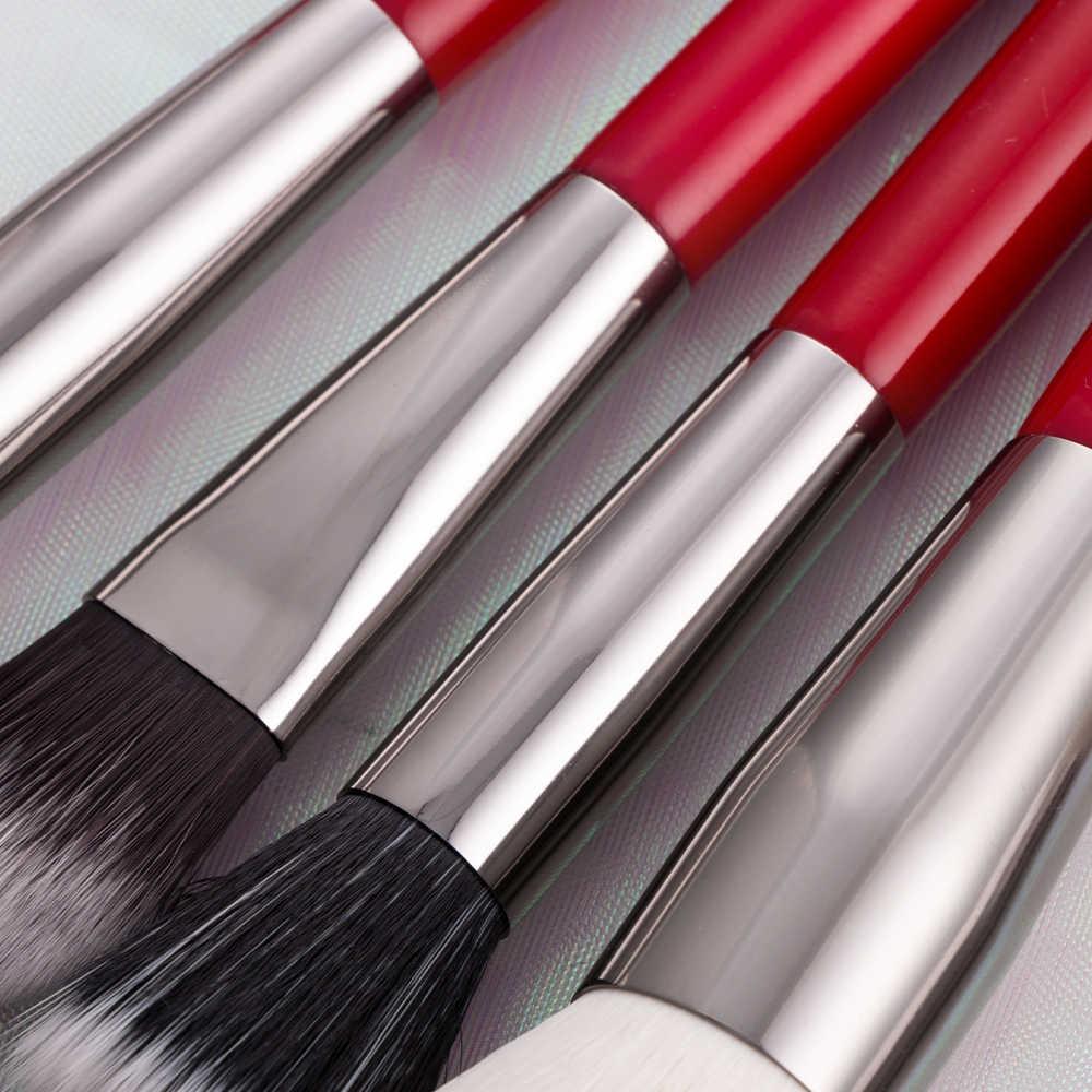 ביילי אדום 24 pcs מקצועי איפור מברשות סט טבעי שיער מברשת איפור קרן אבקת סומק צלליות גבות
