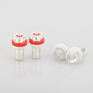 Image 4 - Hot Koop 8 Stuks Verzilverd RCA Phono Chassis Panel Mount Vrouwelijke Socket Adapter