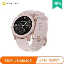 글로벌 버전 Amazfit GTR 스마트 시계 42mm 5ATM 방수 24 일 배터리 GPS 스마트 여성 시계 안드로이드 시계