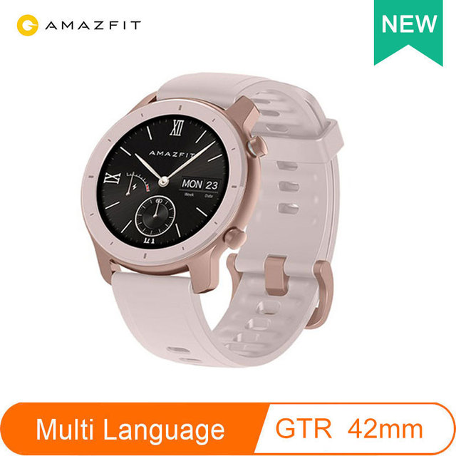 Version mondiale Amazfit GTR montre intelligente 42mm 5ATM étanche 24 jours batterie GPS femmes intelligentes montre Android montre