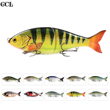 CCLTBA 178mm 82g Shad Glider Swimbait Fishing Lures Hard Body Slow Sinking Jointed Bass Pike Lures Fishing Bait Tackle