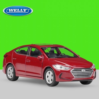 Welly 1:36 Diecast Elantra High Simulator Alloy Model Car Pull Back Vehicle image