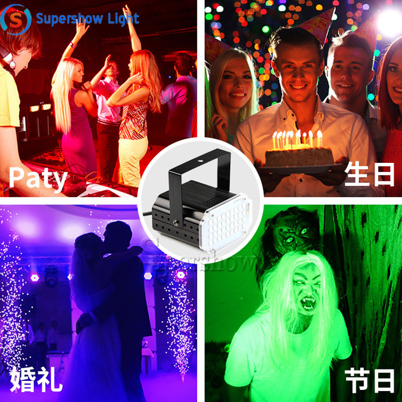 H2a954a2ab1f9498dab216c20459684247 - 36 Led DJ Disco Strobe Light LED Flash Voice Music Stroboscope Stage Lighting Effect Party Show