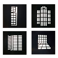 24 style DIY optical snoot background shape effect projection film graphic gobo insert for godox flash LED Light