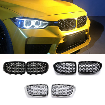 Для BMW 4 серии F32 F33 F36 F80 M3 F82 F83 M4 Новый стиль Алмазный передний бампер гоночные решетки 2008 +