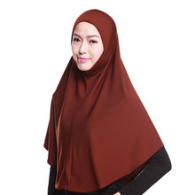 Womans Musulmano Hijab Islamico Sciarpa Solid Amira Cappellino Morbido Stretch Immediato Facile Da Foulard(China)