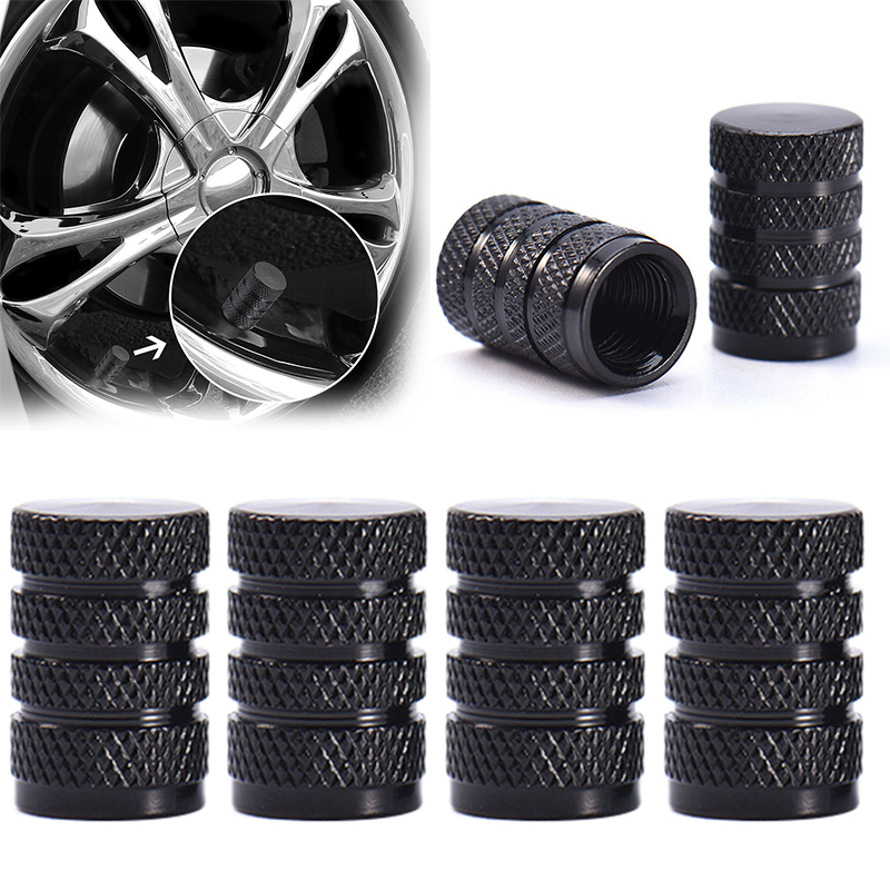 4PCS Aluminum Bullet Car Truck Air Port Cover Tire Rim Wheel Valve Stem Cap