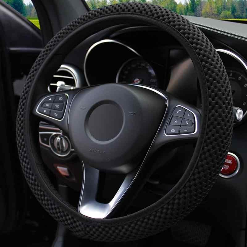 Accessoires de voiture antidérapant Durable couverture de volant de voiture tissu Sandwich à la main respirabilité Auto couvre adapté à la plupart des voitures