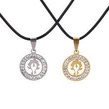 Ювелирные изделия из нержавеющей стали, подвеска с кристаллами World of Warcraft Horde Alliance, ожерелье с логотипом, подарки для женщин и мужчин