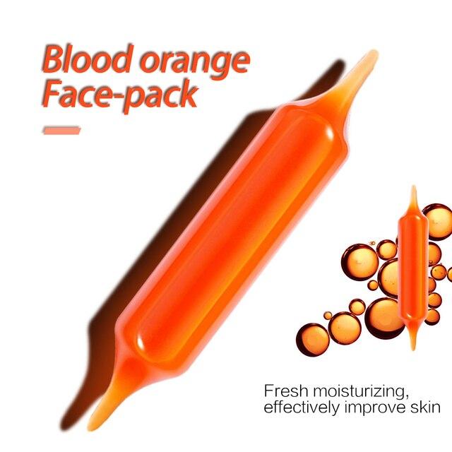 5pcs Blood Orange Hyaluronic acid soothing Mask High Moisturizing Firming Brightening Acne Treatment korean face mask 4