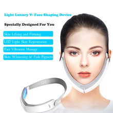 Electric V Face Slimmer Massager LED Red Blue Light Therapy Skin Lifting Skin Re
