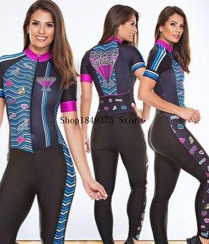 2020 pro equipe triathlon terno rosa das mulheres de manga curta calças compridas ciclismo jérsei skinsuit macacão maillot ciclismo ropa ciclismo 1