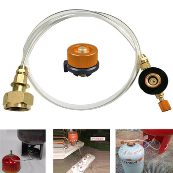 цена на Gas Stove fire maple Propane Refill Adapter Liquefied gas Flat Cylinder tank Coupler Bottle Adapter Save Kit Camping equipment