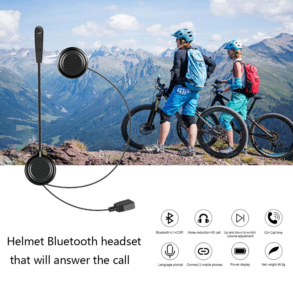 Motorcycle Wireless Helmet Headset Modified Helmet Bluetooth High-Definition Stereo Sound Headphones Accessories